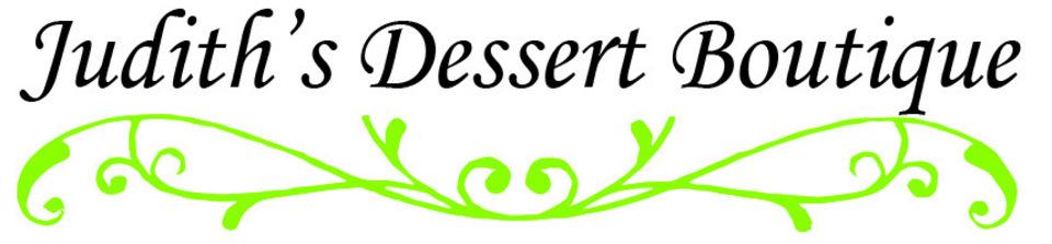 logo for judith's dessert boutique